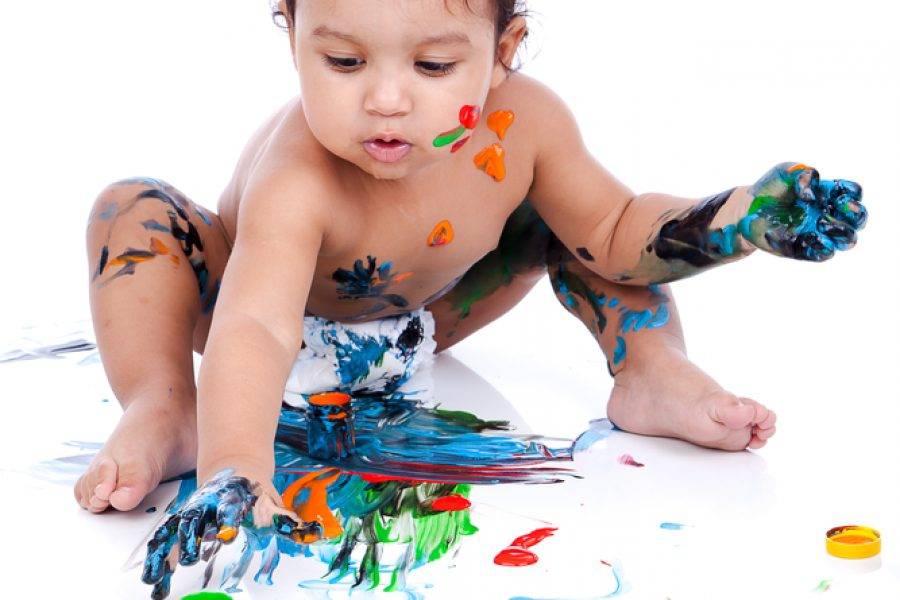 Messy Play: Helping Your Baby's Sensory Development