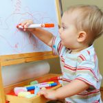 Developmental benefits of baby and toddler art