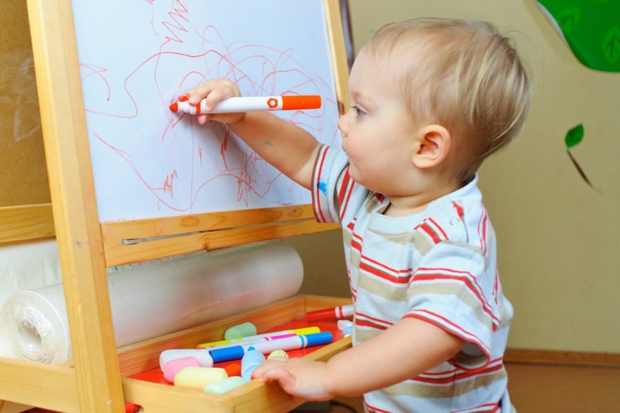 Developmental Benefits of Baby & Toddler Art