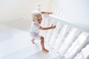 Toddler milestone: climbing stairs