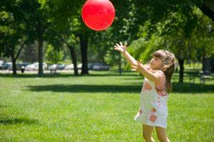 Toddler milestone: catching