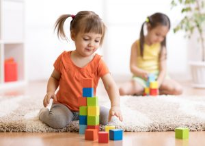 Stages of block play